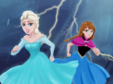 Frozen Elsa Anna Rainstorm Escape